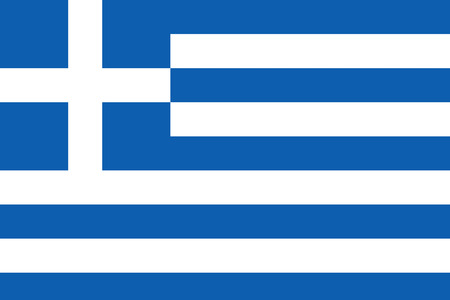Flag of Greece / Greek country Foto de archivo