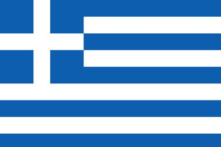 Flagge von Griechenland / Griechische Land Standard-Bild - 43609525