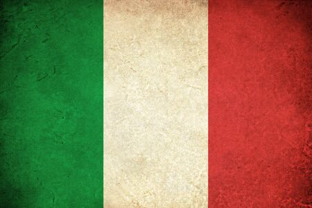 Flag of Italy grunge illustration italian country