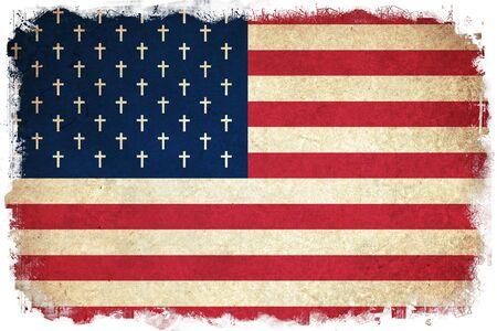 memorial cross: La muerte de la bandera de los estados EE.UU.  Unidas de América país Foto de archivo