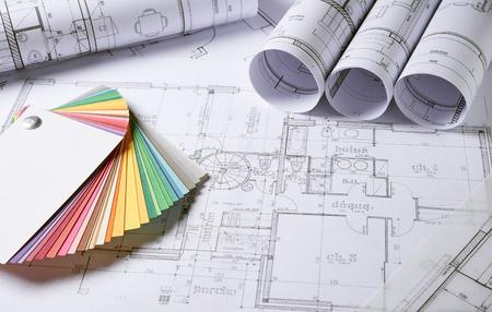 建築計画、住宅プロジェクトのスケッチ