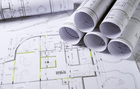 建築計画、住宅プロジェクトのスケッチ 写真素材 - 46519783