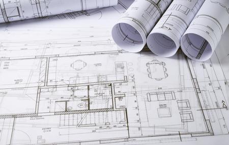 Architecturale plannen en schets van huis-project