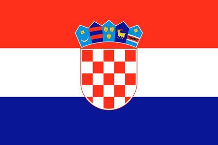 bandera croacia: Croacia ilustraci�n fondo de la bandera del pa�s europeo Foto de archivo