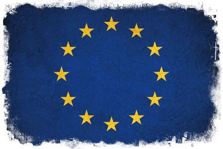 blu: European Union grunge flag a background illustration of europe country Stock Photo