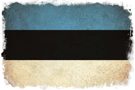 striped background: Estonia grunge flag background illustration of european country