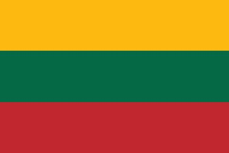 lithuania: Lithuania flag illustration of european country