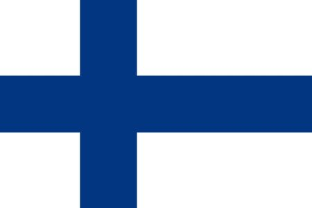 finland: Finland flag illustration of european country Stock Photo