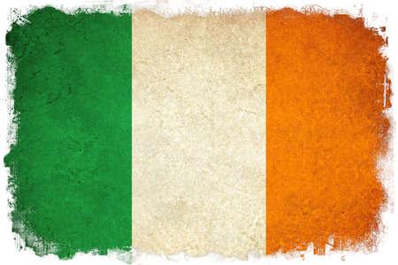 ireland flag: Ireland grunge flag illustration of european country