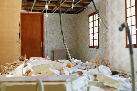 demolition: Destroyed home for demolition