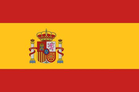 スペイン グランジ フラグはヨーロッパの国のイラストを背景します。