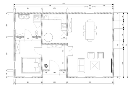 White architect plan for personnal house construction