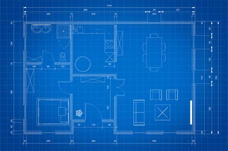 arquitecto: Modelo del plan del arquitecto para la construcción de viviendas personnal Foto de archivo