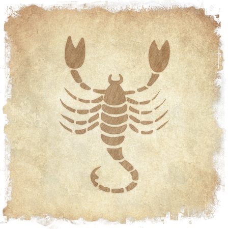clairvoyant: Horoscope zodiac sign Scorpio on grunge background Stock Photo