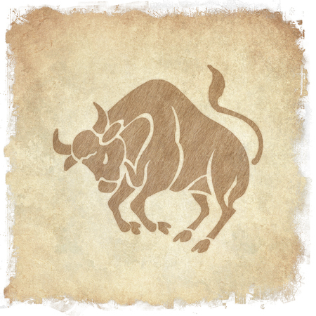 clairvoyance: Horoscope zodiac sign Taurus on grunge background