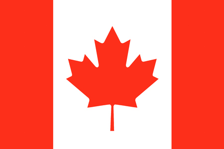 canadian state flag: Canada background illustration of country