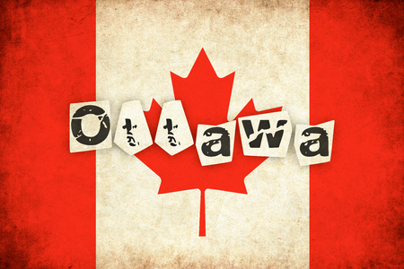 quebec: Canada grunge background illustration of country with text