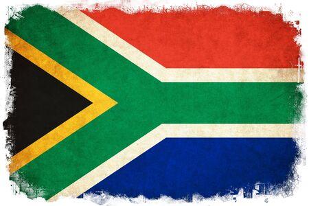 南アフリカ グランジ旗国のイラストを背景します。 写真素材