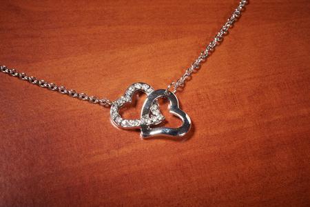 st  valentine: St Valentine day jewelry on wooden table