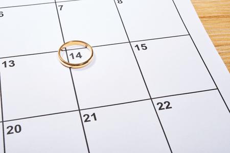 結婚指輪と議題に聖バレンタインの日