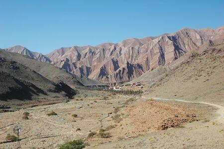 青い空と砂漠の砂丘 写真素材