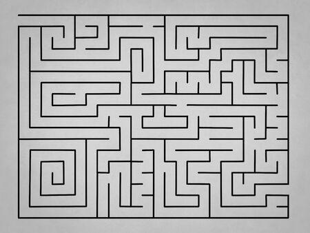 ビジネス ソリューションなし複雑な空灰色の迷宮 写真素材