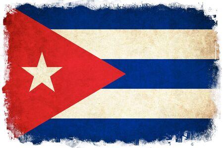 キューバ グランジ旗国のイラストを背景します。
