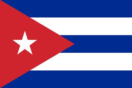 cuban flag: Cuba flag background illustration of american country