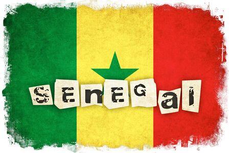 セネガル グランジ フラグ背景本文のアフリカの国のイラスト