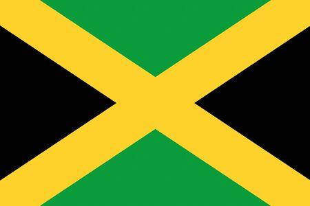 ジャマイカ国旗はアメリカの国のイラストを背景します。 写真素材