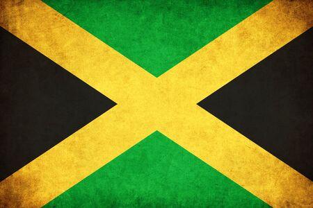 ジャマイカ グランジ旗国のイラストを背景します。