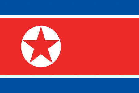 symbolics: North Korea flag background illustration of asian country