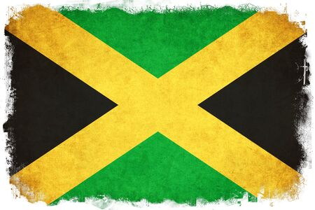kingston: Jamaica grunge flag background illustration of country Stock Photo