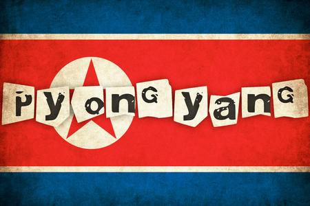 北朝鮮グランジ フラグ背景本文のアジアの国のイラスト