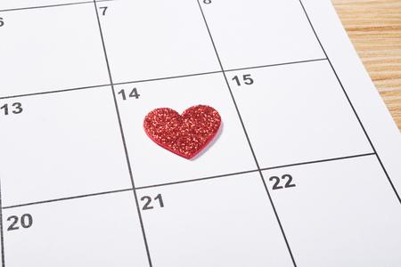 バレンタインデー赤いハートで議題に
