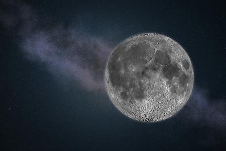 星と暗い青色を月します。