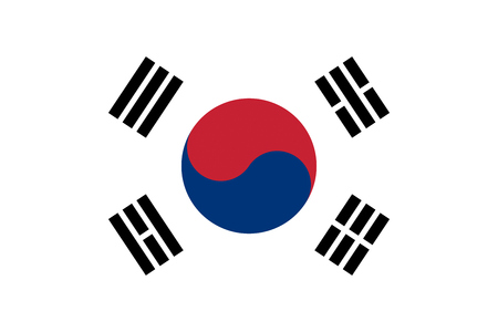 south asian: South Korea flag background illustration of asian country