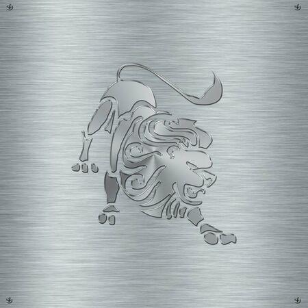 アルミニウム板の星座星座レオ 写真素材