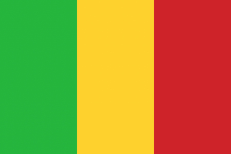 bamako: Mali flag background illustration of african country