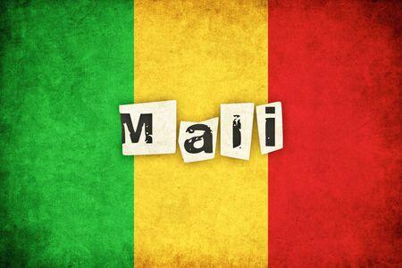 マリ グランジ フラグ背景本文のアフリカの国のイラスト
