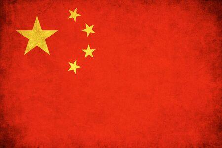 中国グランジ フラグはアジアの国のイラストを背景します。
