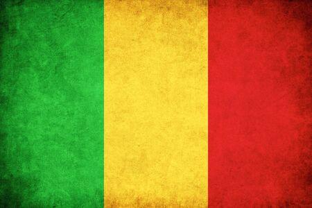 マリ グランジ フラグのアフリカの国のイラストを背景します。