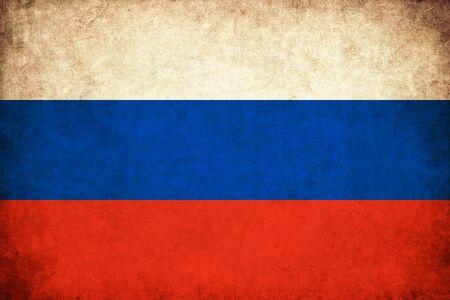 ロシア グランジ旗国のイラストを背景します。