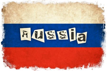 ロシア グランジ フラグ テキストを持つ国のイラストを背景します。 写真素材 - 51501111