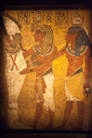 Scene from Egyptian Wall Mural - Original Piece photo