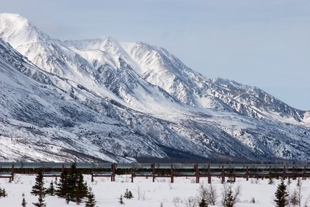 The Trans-Alaska Pipeline System in Interior, Alaska photo