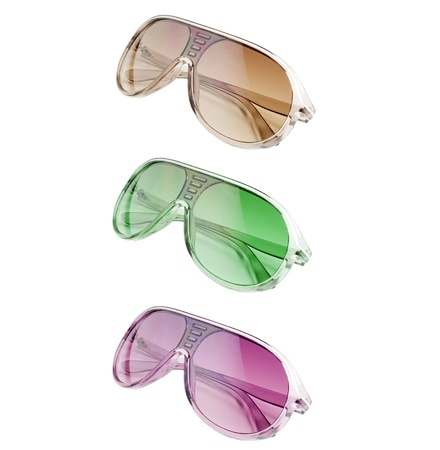 3 different colored sunglasses over white Stock Photo - 14925961