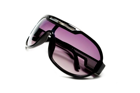 Pink magenta unisex sunglasses over white photo