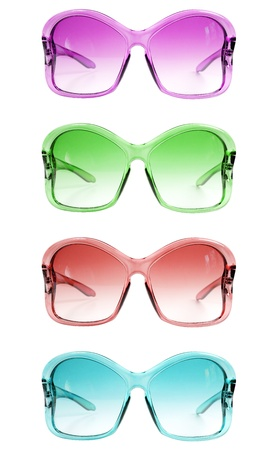 Different colore womans vintage sunglasses Stock Photo - 14926557