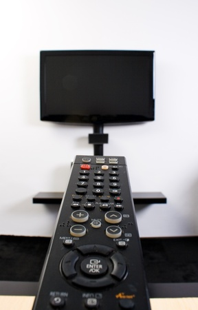 Home cinema system with flat screen tv photo